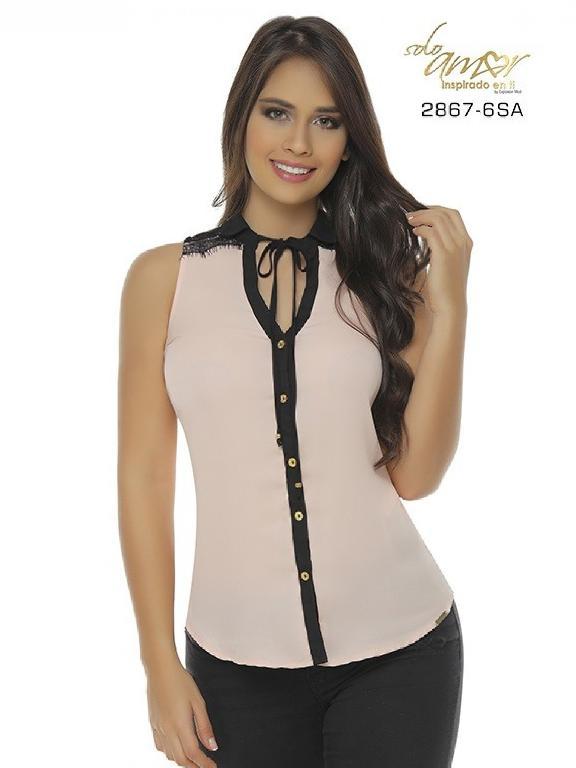 Blusa Moda Colombiana Solo Amor - Ref. 246 -2867-6 SA Naranja