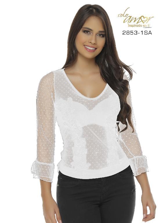 Blusa Moda Colombiana Solo Amor - Ref. 246 -2853-1 SA Blanco