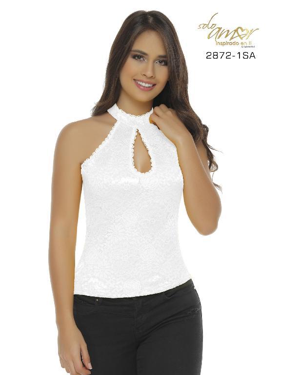 Blusa Moda Colombiana Solo Amor - Ref. 246 -2872-1 SA Blanco