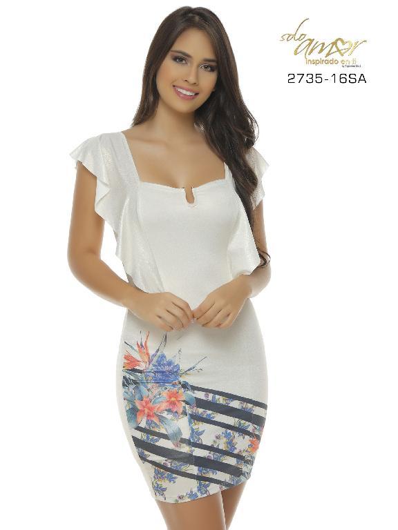 Vestido Moda Colombiana Solo Amor - Ref. 246 -2735-16 SA Beige