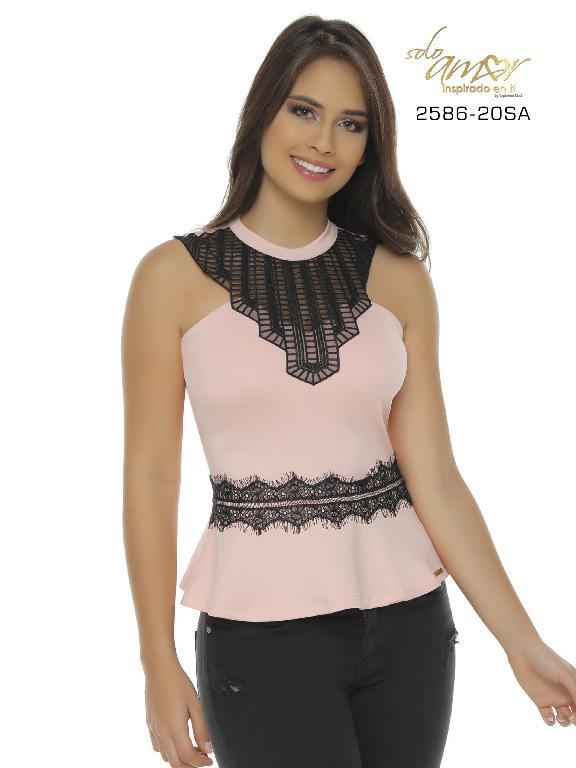 Blusa Moda Colombiana Solo Amor - Ref. 246 -2586-20 SA Rosado