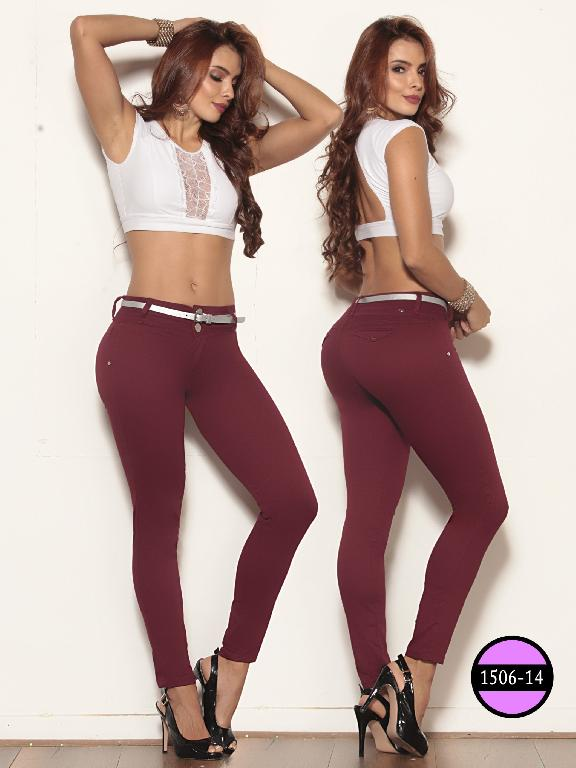 Colombian Jeans Butt Lifting Red Wine Ushuaia - Ref. 260 -1506-14 Vinotinto