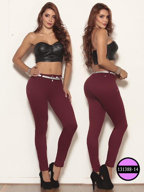 Colombian Jeans Butt Lifting Red Wine Ushuaia - Ref. 260 -131388-14 Vinotinto