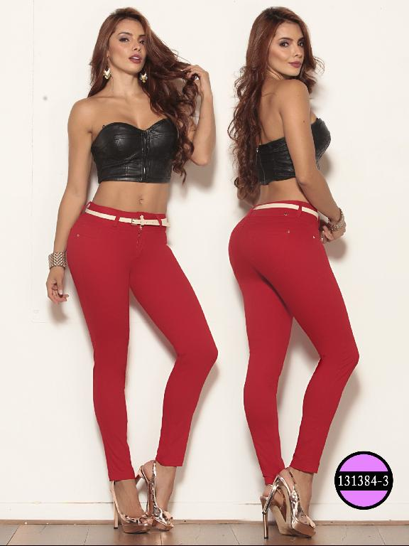 Colombian Jeans Butt Lifting Red Ushuaia - Ref. 260 -131384-3 Rojo