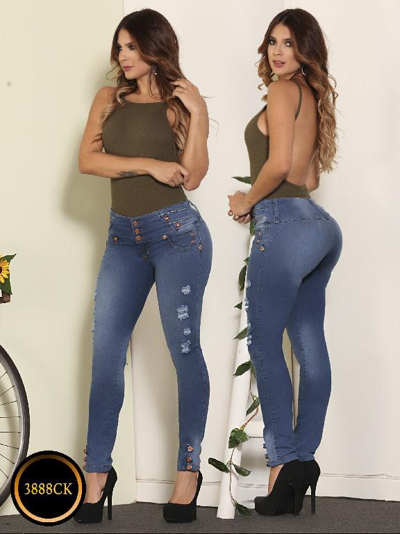 Jeans Dama Levantacola Colombiano Cokette - Ref. 119 -3888 CK