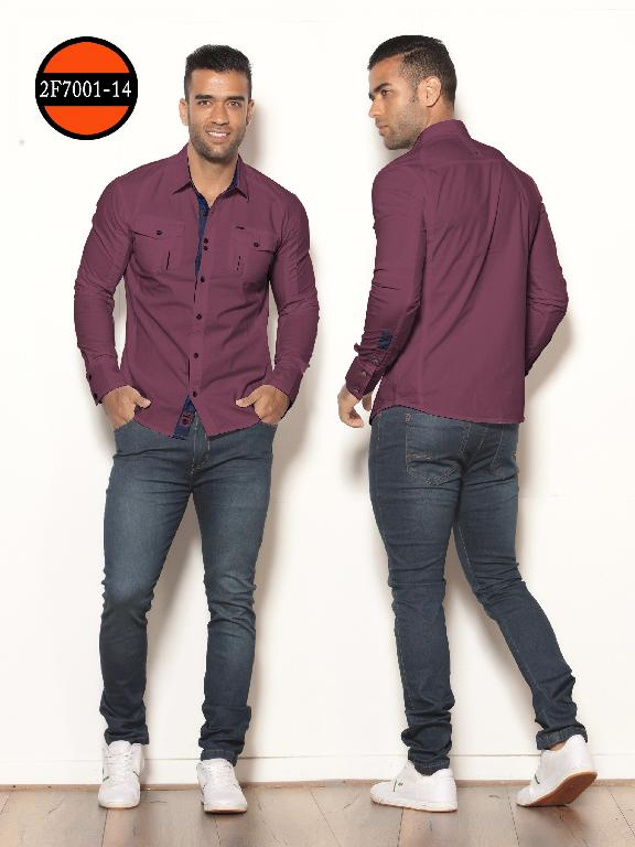 Camisa de Moda Colombiana Slim Fit para Hombre