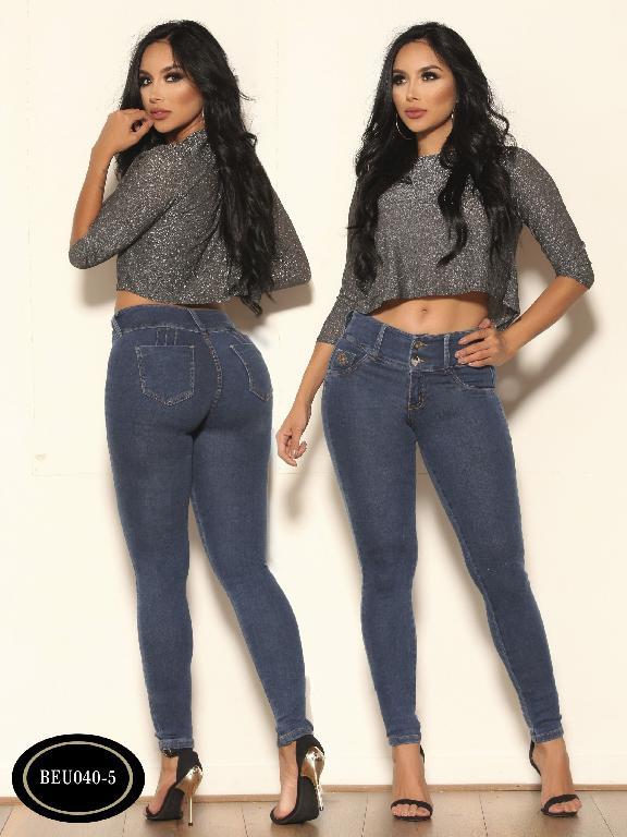 Colombian Jeans Butt Lifting Bambu - Ref. 241 -BEU040-5 Azul