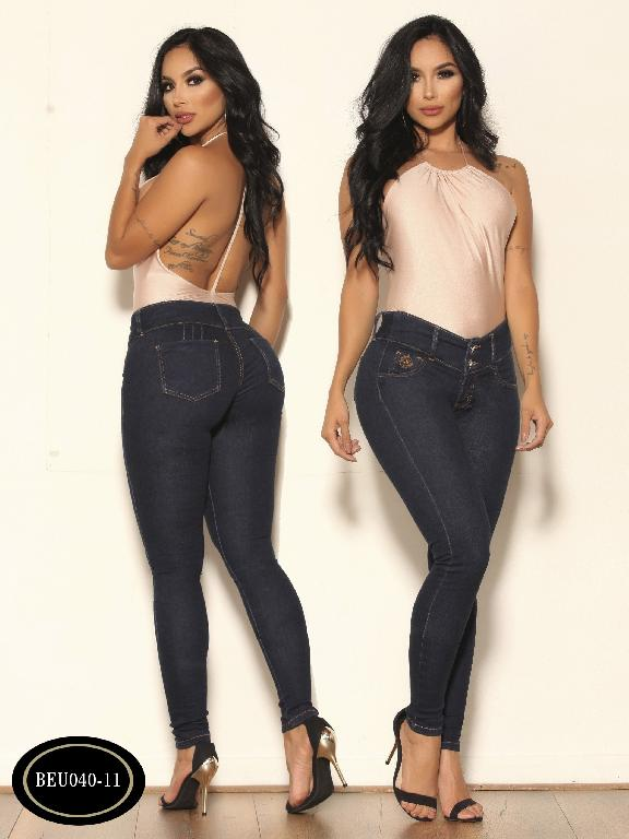 Jeans Colombiano Clasico Bambu - Ref. 241 -BEU 040-11 Azul Oscuro