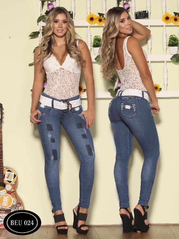 Jeans Levantacola Colombiano Bambu - Ref. 241 -BEU 024-2