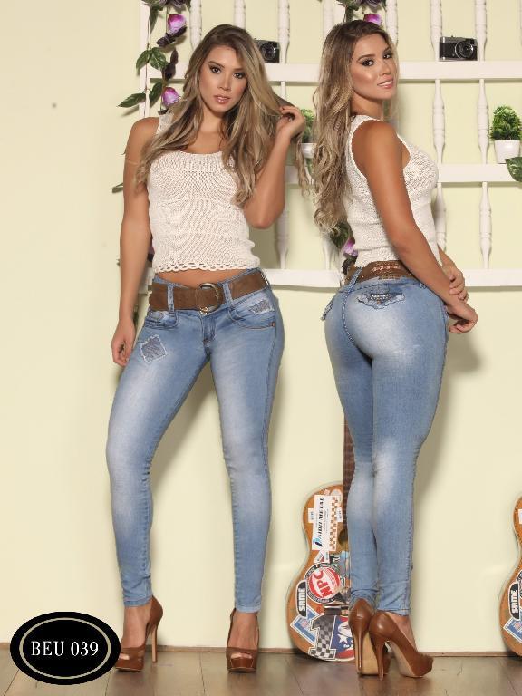 Jeans Levantacola Colombiano Bambu - Ref. 241 -BEU 039