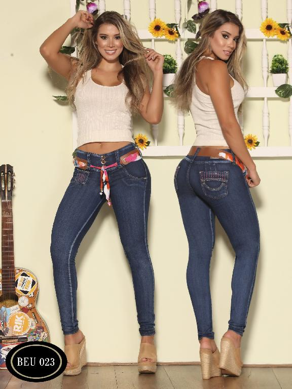 Colombian Butt Lifting Jeans Blue  Bambu - Ref. 241 -BEU 023-2
