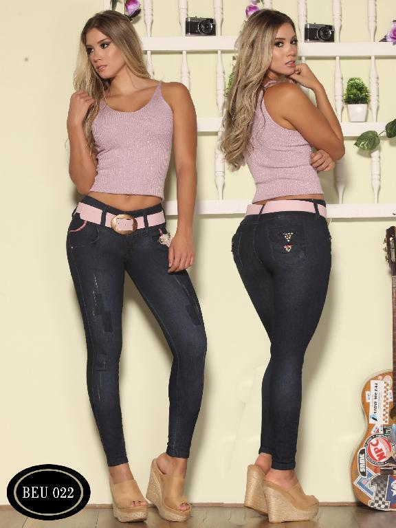 Colombian Butt Lifting Jeans Blue  Bambu  - Ref. 241 -BEU 022-2