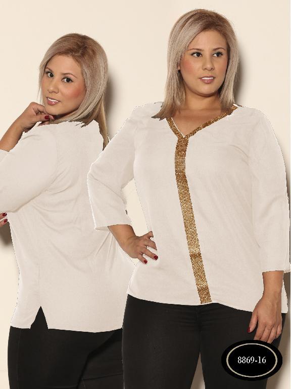 Blusa Moda Azulle Fashion - Ref. 256 -8869 - 16 Beige