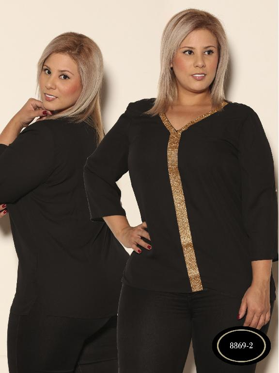 Blusa Moda Azulle Fashion - Ref. 256 -8869 - 2 Negro