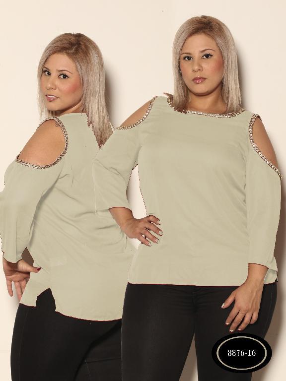 Blusa Moda Azulle Fashion - Ref. 256 -8876 - 16 Beige