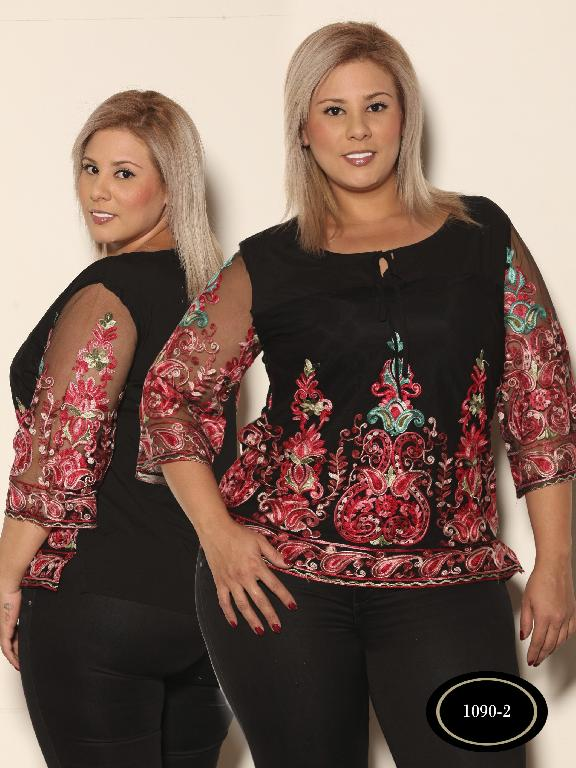 Blusa Moda Azulle Fashion  - Ref. 256 -1090-2 Negro