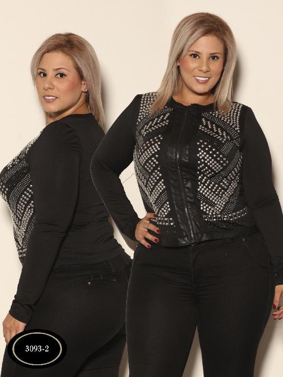 Chaqueta Moda Azulle Fashion - Ref. 256 -3093-2 Negro