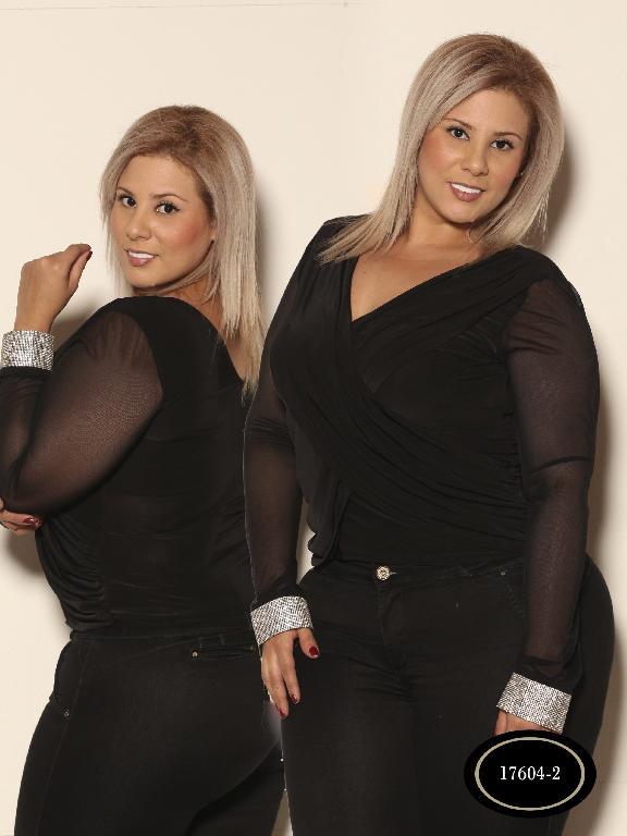 Blusa De Moda Azulle Fashion - Ref. 256 -T17604B - 2 Negra
