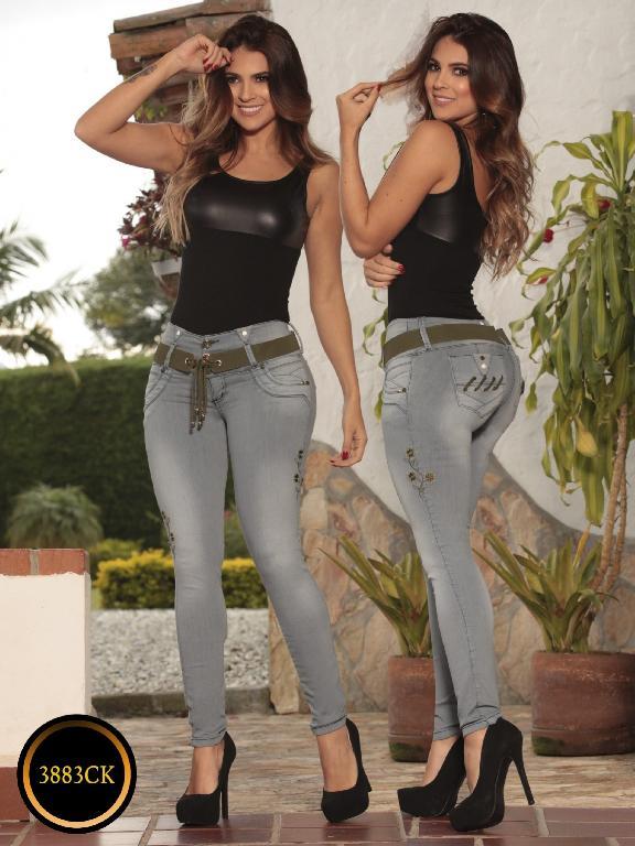Jeans Dama Levantacola Colombiano Cokette - Ref. 119 -3883CK