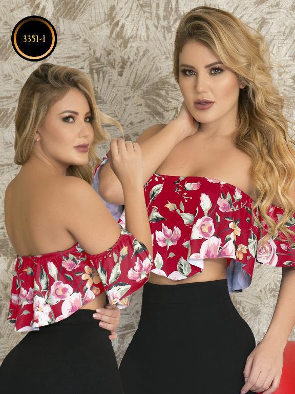 Blusa Moda Colombiana Thaxx  - Ref. 119 -3351-1 Rojo