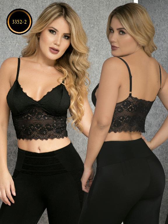 Crop Top Moda Colombiana Thaxx - Ref. 119 -3352-2 Negro
