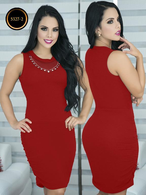 Vestido Moda  Colombiana Thaxx - Ref. 119 -5327-2 Rojo