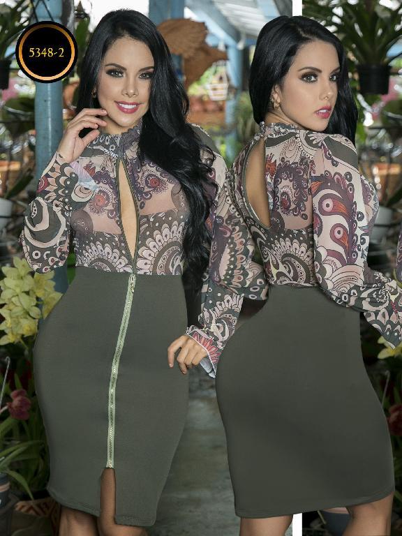 Vestido Moda  Colombiana Thaxx - Ref. 119 -5348-2 Verde