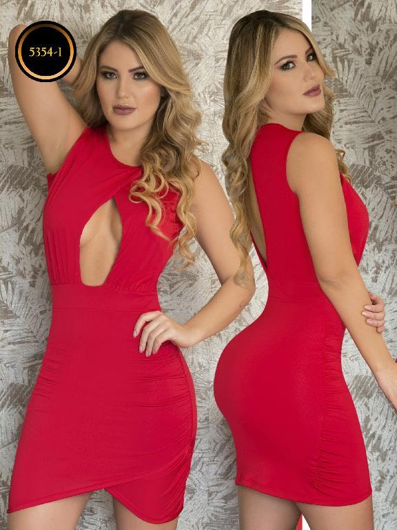 Vestido Moda  Colombiana Thaxx - Ref. 119 -5354-1 Rojo