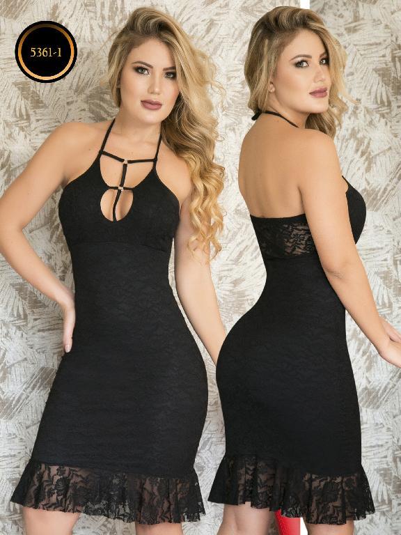Vestido Moda  Colombiana Thaxx - Ref. 119 -5361-1 Negro