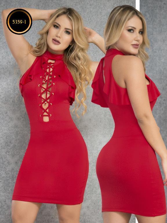 Vestido Moda  Colombiana Thaxx - Ref. 119 -5359-1 Rojo