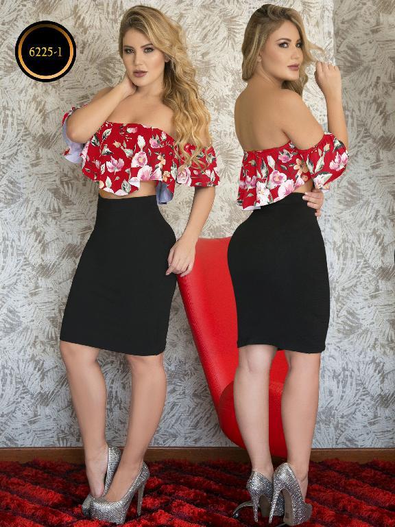 Conjunto Falda Moda Colombiana Thaxx - Ref. 119 -6225-1 Rojo