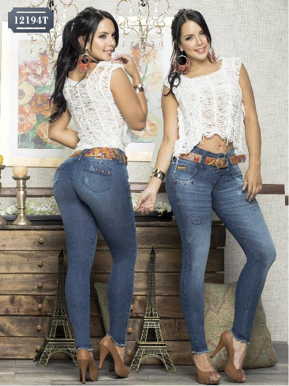Jeans Levantacola Colombiano Tabbachi - Ref. 101 -12194 T