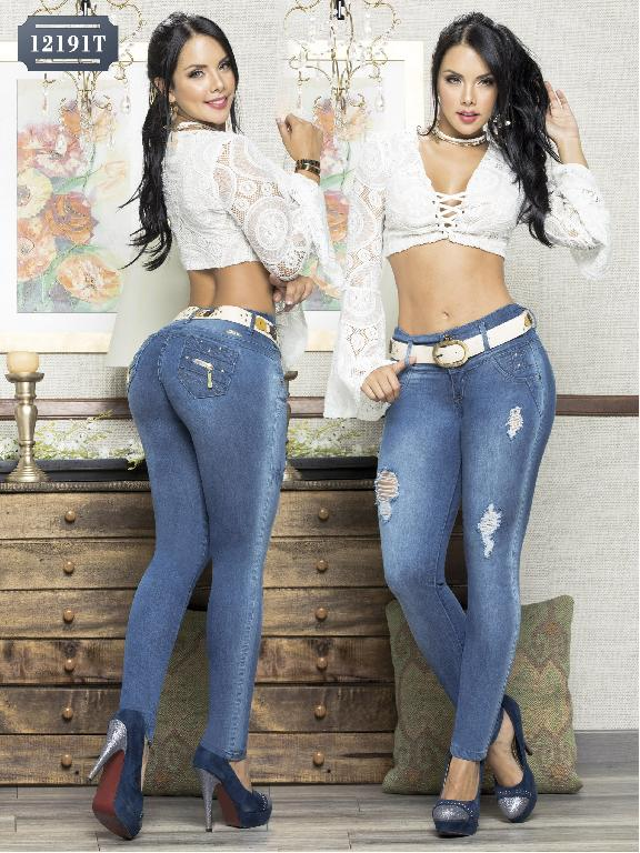 Colombian Jeans Butt Lifting Tabbachi  - Ref. 101 -12191 T