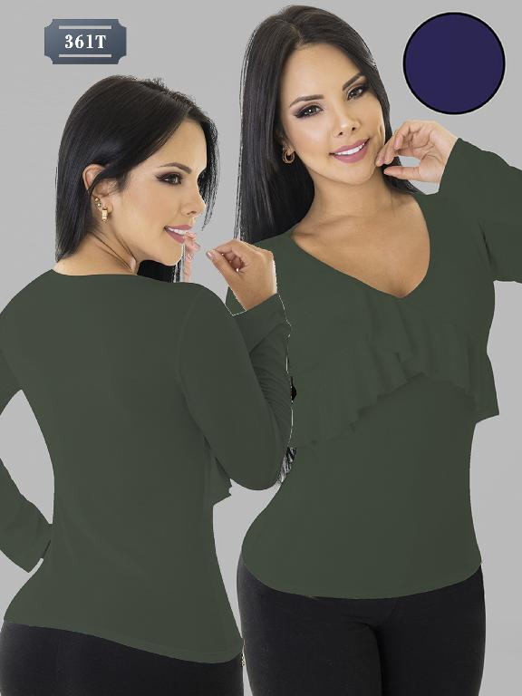 Colombian Blouse Tabbachi Fashion - Ref. 236 -361-8 T - Verde