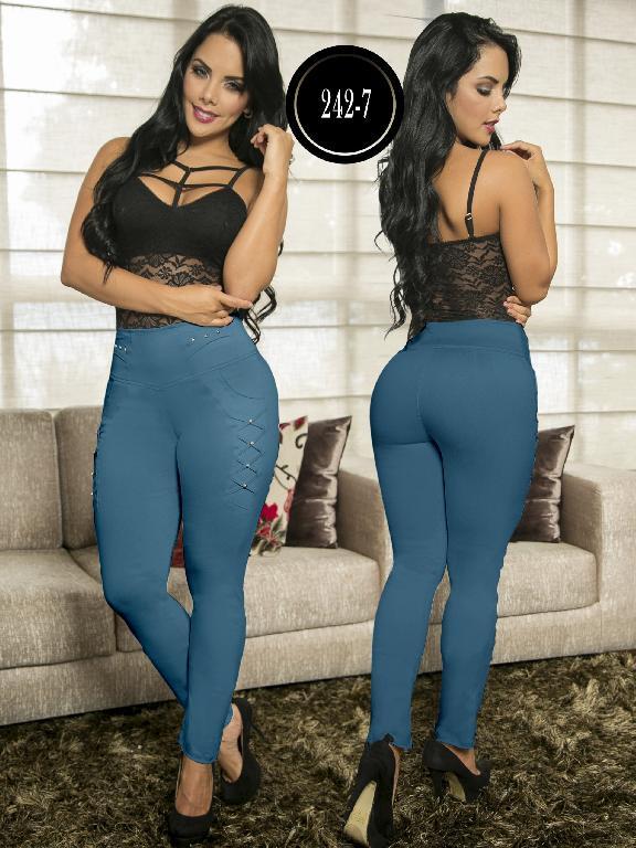 Pantalon Casual Confort Thaxx - Ref. 119 -242-7 Azul Claro