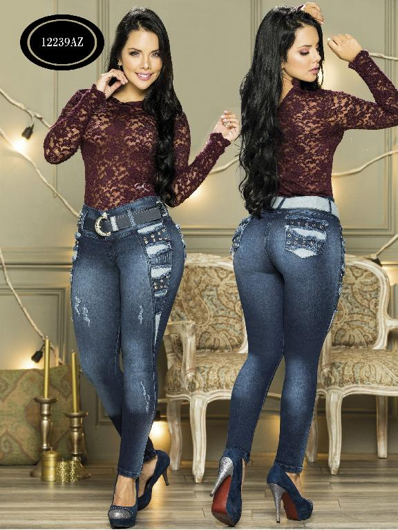 Jeans Levantacola Colombiano Azulle