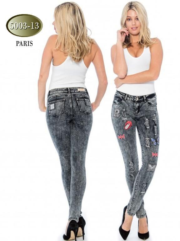 Jeans Levantacola Paris Gris - Ref. 200 -5003-13 Gris