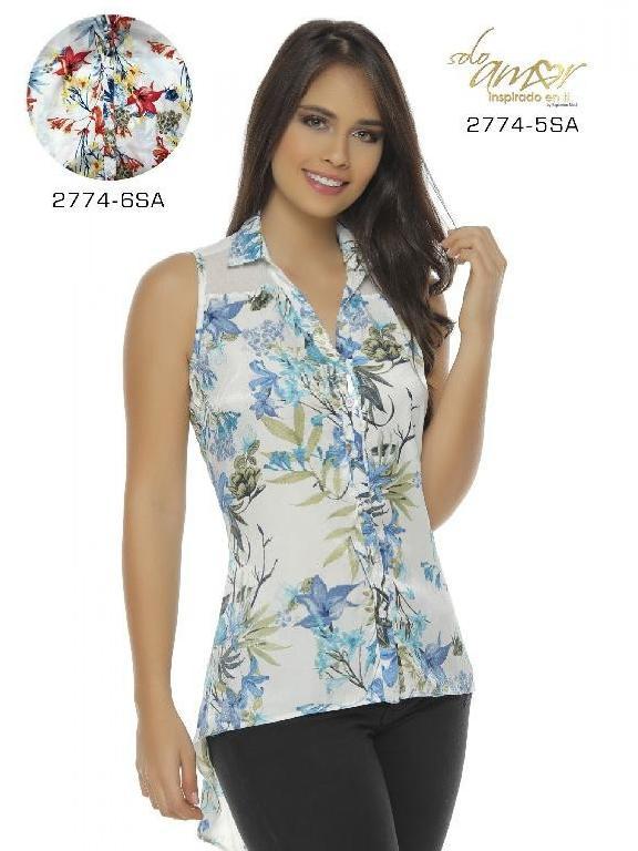 Blusa Moda Colombiana Solo Amor - Ref. 246 -2774-6 SA Naranja