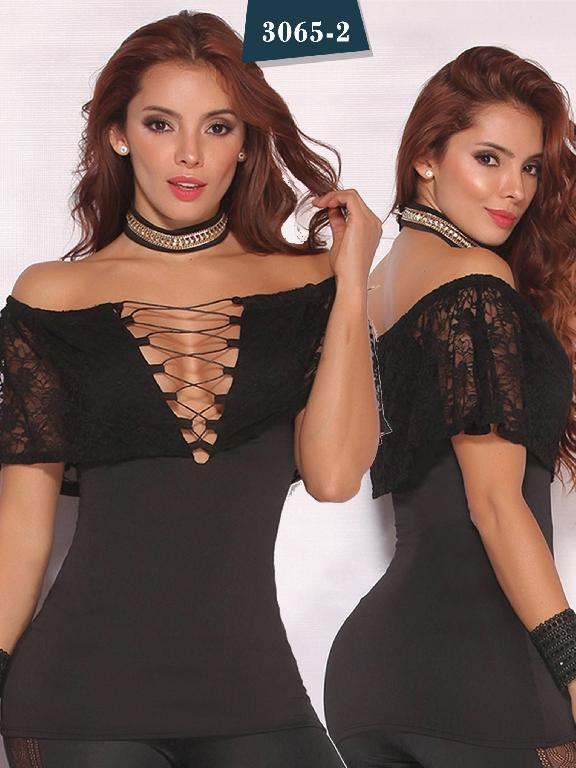 Blusa Moda Colombiana Cereza - Ref. 111 -3065-2 Negro
