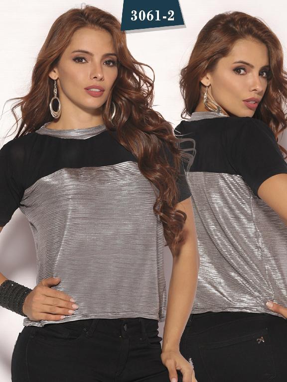 Blusa Moda Colombiana Cereza - Ref. 111 -3061-2 Negra