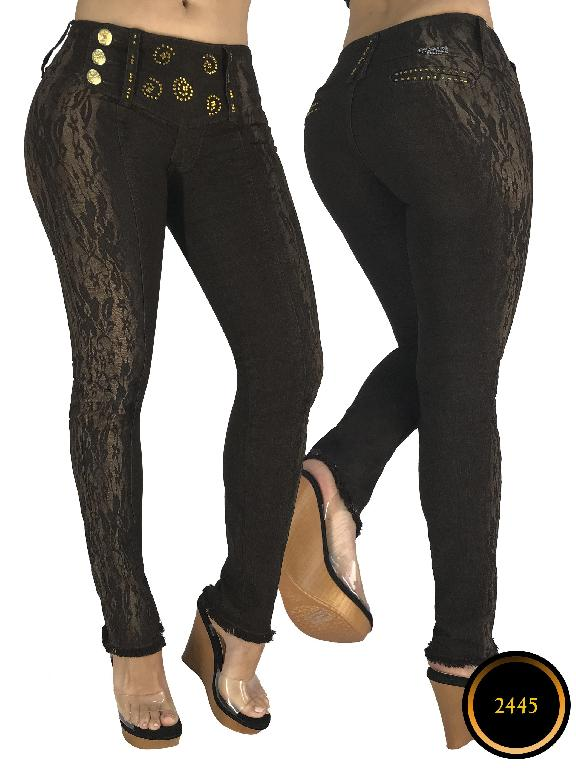 Colombian Butt Lifting Jeans Black Capellini Boutique - Ref. 106 -2445