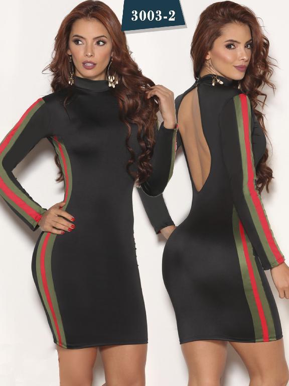 Vestido Moda Colombiana Cereza  - Ref. 111 -3003-2 Negro