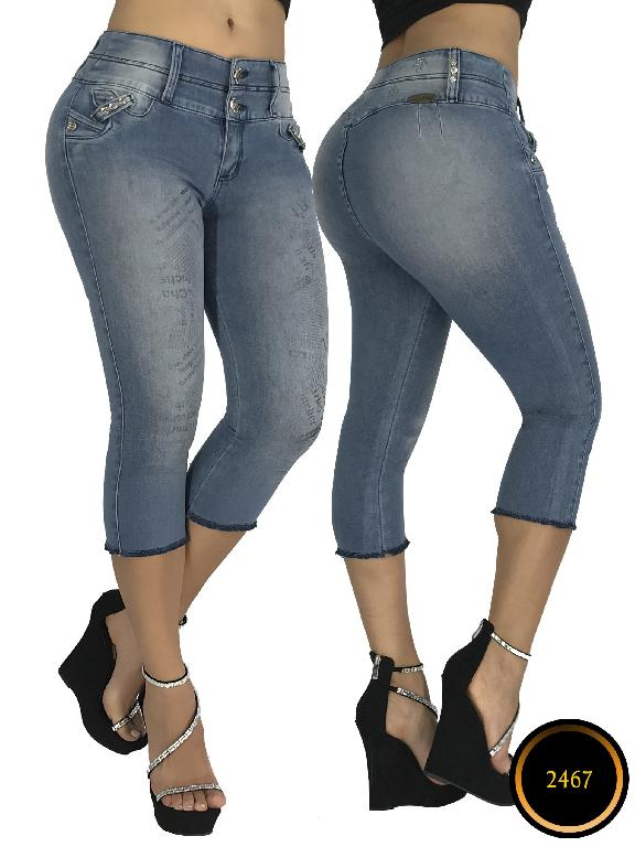 Colombian Butt Lifting Capri Blue apellini Boutique - Ref. 106 -2467