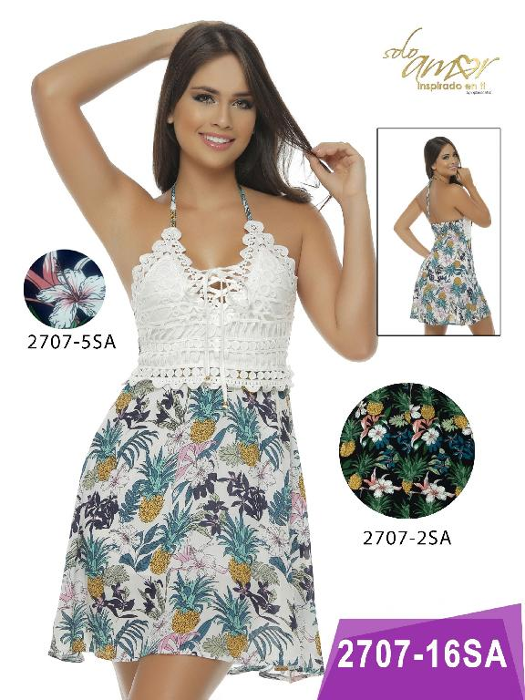 Vestido Moda Colombiana Solo Amor  - Ref. 246 -2707-2 Negro
