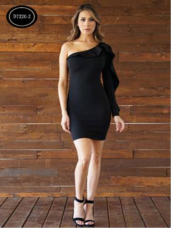 Vestido Moda Azulle Fashion  - Ref. 256 -D7220-2 Negro