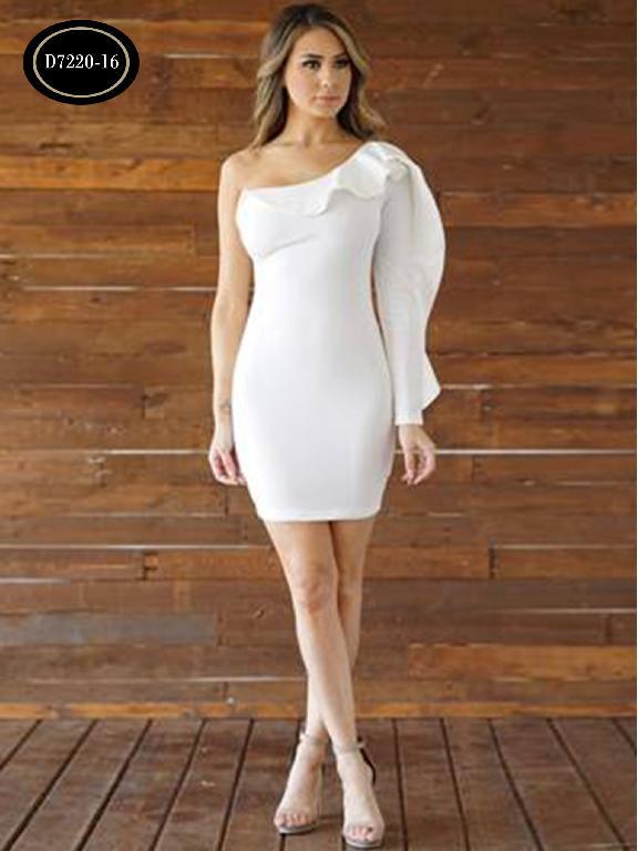 Vestido Moda Azulle Fashion  - Ref. 256 -D7220-16 Beige