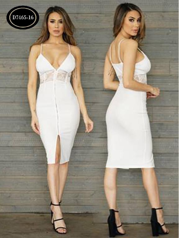 Vestido Moda Azulle Fashion  - Ref. 256 -D7465-16 Beige