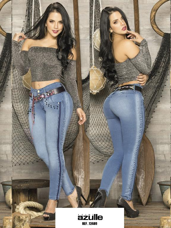 Jeans Levantacola Colombiano Azulle Jeans - Ref. 232 -12489 AZ