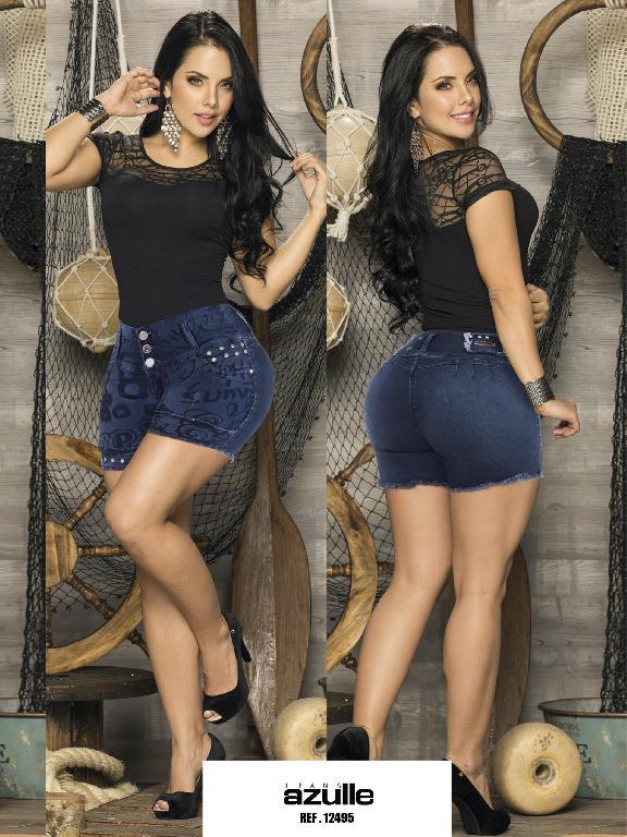 Short  Levantacola Colombiano Azulle Jeans - Ref. 232 -12495 AZ