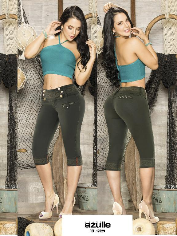 Capris  Levantacola Colombiano Azulle Jeans - Ref. 232 -12529 AZ